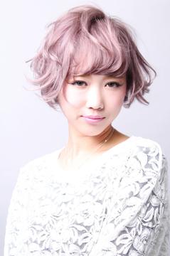 桜アッシュ小顔ショート|ヘアスタイル